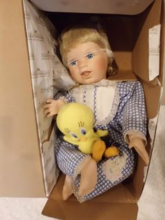 Ashton Drake  I Love Tweety Collection Porcelain Doll Tweety and Me