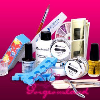 Acrylic Nail Art Full Set F Manicure Pedicure Nails Kit