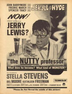 Jerry Lewis Stella Stevens The Nutty Professor Ad 1963