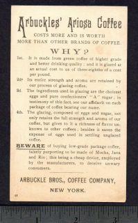Irish Tramp Mad Dog Pipe Joke 18 Arbuckle Coffee Card
