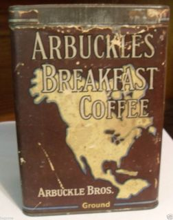 Old Arbuckle Bros Breakfast Coffee Tin New York Chicago Pittsburgh