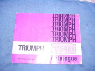 TRIUMPH TR6 Catalogue by The Roadster Factory in Armagh Pennsylvania