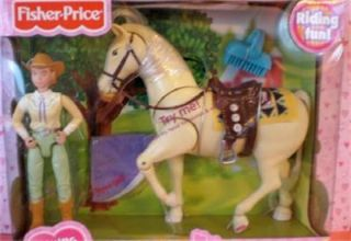 Fisher Price Loving Family Dollhouse Aspen Gold Horse w Sarah