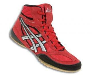 Asics Split Second VI Mens Wrestling Shoes JY601 Red Black Silver