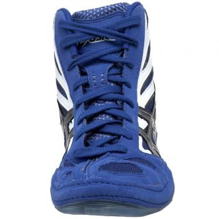 ASICS Mens Split Second 8 Wrestling Shoe Royal Blue White Charcoal