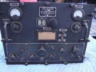 MILITARY NAVY TUBE RADIO SHIP RECEIVER RAL 7 POWER SUPPLY ARMY MARINES