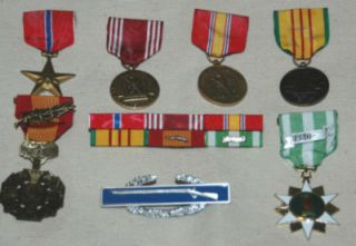 Army Vietnam Medals, Ribbons, Combat Infantry Badge VN