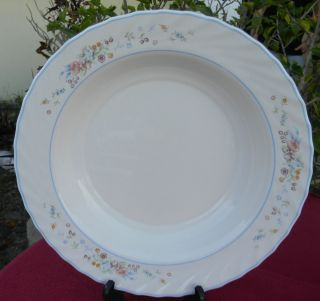 Arcopal France Victoria Pattern Dinnerware Serving Bowl 12 5 Flat Rim