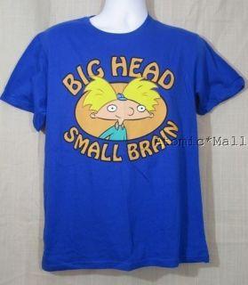 Nickelodeon 90s BIG HEAD SMALL BRAIN Mens Size L T Shirt Hey Arnold