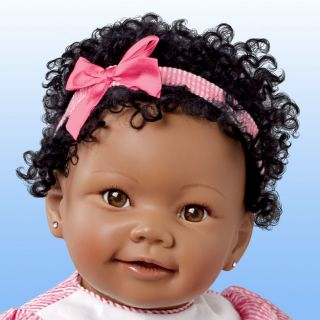 Ashton Drake Lifelike African American Baby Girl Doll with Musical