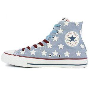 Converse Wonder Woman PSTR Hi All Star Shoes Aspen Blue