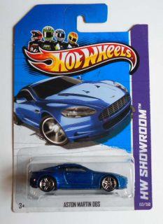 Hot Wheels 2013 153 HW Showroom Aston Martin DBS Blue w PR5s Mint on