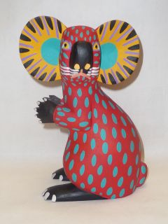 Mexican Folk Art Oaxacan Wood Carving Koala by Armando Jimenez