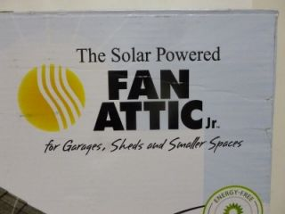 The Solar Powered Fan Attic Jr For Garages, Sheds And Smaller Spaces
