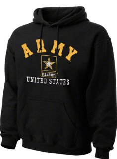 Army Black Knights Black Military Hooded Sweatshirt