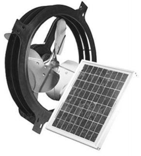 Solar Power Gable Attic Ventilator Fan 800 CFM Up to 1200 Sq Ft