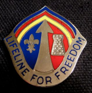 older us army support command europe unit crest