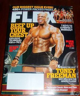 Flex Magazine March 2009 Toney Freeman New