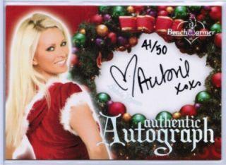 AUBRIE LEMON 2006 BENCHWARMER HOLIDAY #d 41/50 CHRISTMAS AUTOGRAPH SET