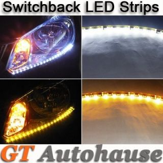 White Amber Audi Style LED Strip Turn Signal Lights Acura Honda