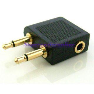 mm Airplane Travel Headphone Earphone Jack Audio Adapter