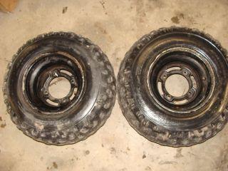 94 Kawasaki Bayou KLF220A ATV Rear Wheel Tires Rims 22x10 10
