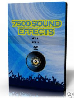 7500 Sound Effects Samples Collection 2 DVD  WAV