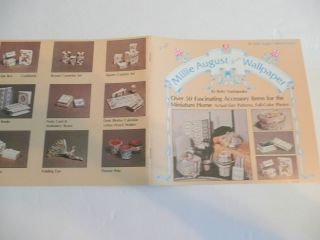 August Wallpaper Patterns for Doll House Miniature Accessories 1979