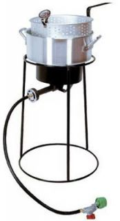 portable propane outdoor cooker 54,000 BTU cast burner Aluminum fry