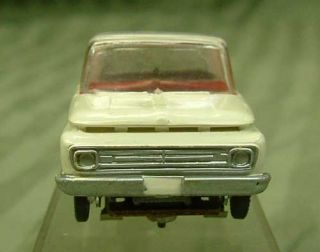 1960s Aurora Model Motoring HO Slot Car Vibrator White 1962 Ford Pick