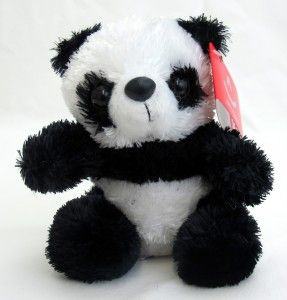 aurora plush panda bear mini stuffed animal toy new