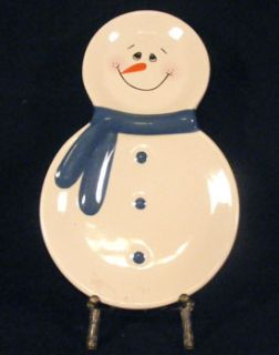 CMI Henton Snowman Holiday Christmas Scarf Snack Tray