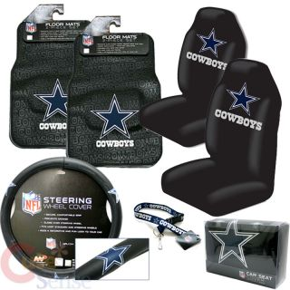 Dallas Cowboys Car Seat Cover Auto Accessories Set 6pc