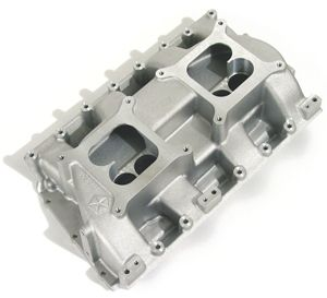 Dual Quad Intake Manifold Holly Carb Mopar 426 Hemi