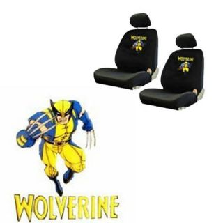 Wolverine Comics Superhero Low Back Bucket Car Seat Covers Set Fit