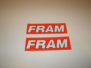 Fram Automotive Oil Air Filters Decals Stickers