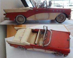 Vintage Automobile Car Model Decor Made Tin Metal