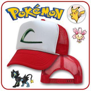 New Pokemon Ash Ketchum Trucker Costume Cap Cosplay Hat