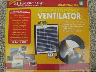 US Sunlight Corp Attic Fan Ventilator Solar powered gable cooling vent