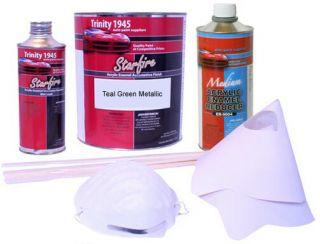 Teal Green Metallic Acrylic Enamel Auto Paint Kit