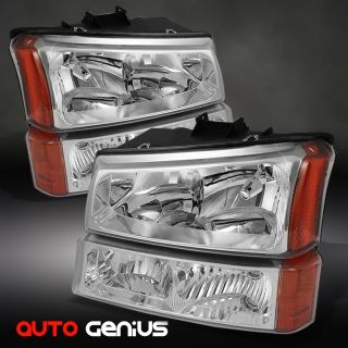 , 03 05 AVALANCHE CHROME HEADLIGHTS + BUMPER PARKING LIGHTS SET