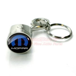 Mopar Logo Piston Style Auto Key Chain Keychain Key Ring Free Gift
