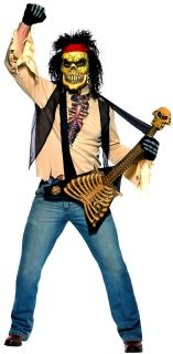 Halloween Horror Evil Zombie Rock Mens Scary Fancy Dress Costume