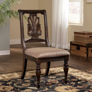 ASHLEY   KEY TOWN SPLATBACK DARK WOOD DINING ROOM SIDE CHAIR