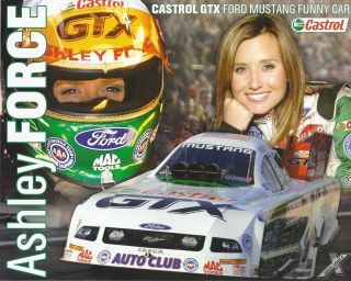 Ashley Force Funny Car NHRA Drag Racing Handout herocard postcard