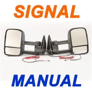 Sierra Manual Turn Signal Light Set Pair Tow Towing Side Mirror