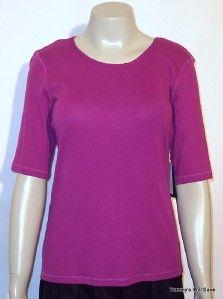 nwt ashley judd purple wine organic cotton shirt top s