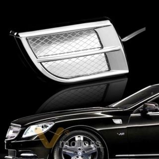 Auto Car Truck LED Marker Light Chrome Air Intake Side Panel Fender