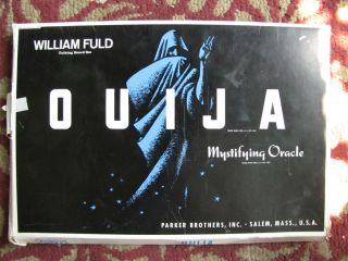 vtg 60s William Fuld OUIJA BOARD Parker Brothers mystifying oracle