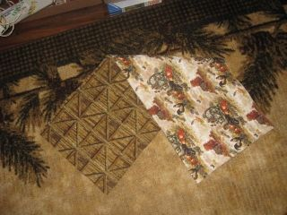 Handmade Quilted Table Runner Fall Autumn Country Thanksgiving